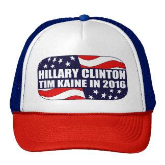 Hillary Clinton Tim Kaine 2016 Gorros Bordados