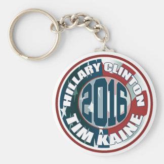 Hillary Clinton Tim Kaine 2016 Llavero Redondo Tipo Pin