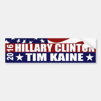 HILLARY CLINTON TIM KAINE 2016 PEGATINA PARA AUTO