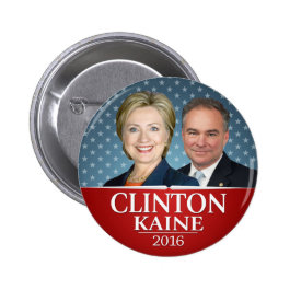 Hillary Clinton & Tim Kaine Jugate Photo Stars