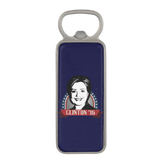 HILLARY CLINTON TO RUN IN 2016 MAGNETIC BOTTLE OPENER