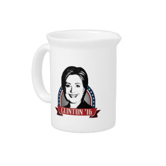 HILLARY CLINTON TO RUN IN 2016 BEVERAGE PITCHERS