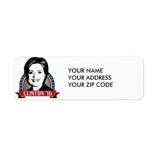 HILLARY CLINTON TO RUN IN 2016 -.png Return Address Label