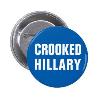 Hillary Clinton torcida Pin Redondo De 2 Pulgadas