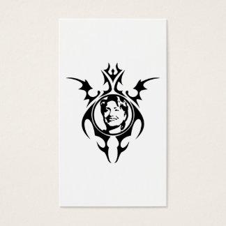 Hillary Clinton tribal design Business Card