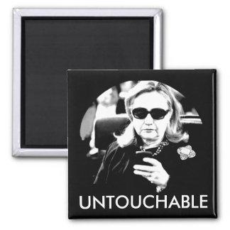 Hillary Clinton Untouchable 2 Inch Square Magnet