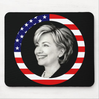 hillary clinton. us flag. picturesque. mouse pad