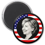 hillary clinton. us flag. refrigerator magnet