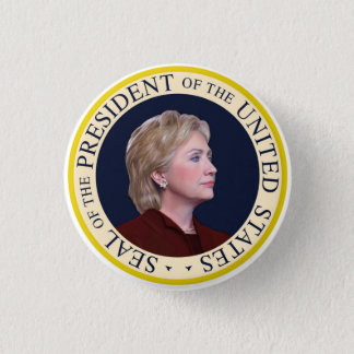 Hillary Clinton - US President United States Seal Button