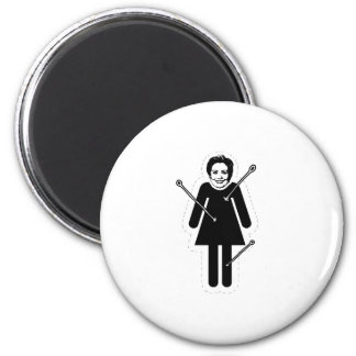 Hillary Clinton VooDoo Doll Only 2 Inch Round Magnet