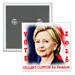 Hillary Clinton,Vote for President_ Button