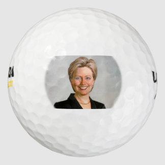 Hillary Clinton Wilson 500 golf balls