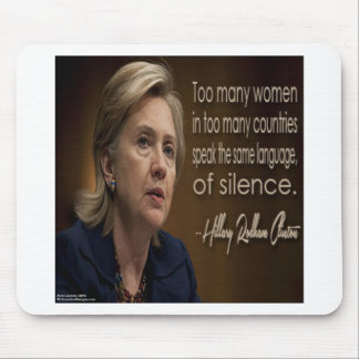 Hillary Clinton Women R Anonymous Gifts & Tees Mouse Pad