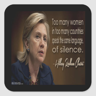 Hillary Clinton Women R Anonymous Gifts & Tees Square Sticker