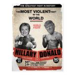 Hillary Clinton y Donald Trump 2016 Tarjeta Postal