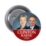 Hillary Clinton y estrellas de la foto de Tim Pin Redondo De 2 Pulgadas