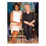 Hillary Clinton y Micaela Obama Postal