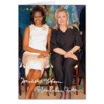 Hillary Clinton y Micaela Obama Tarjeta De Felicitación