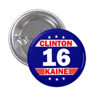 Hillary Clinton y Tim Kaine 2016 Pin Redondo De 1 Pulgada
