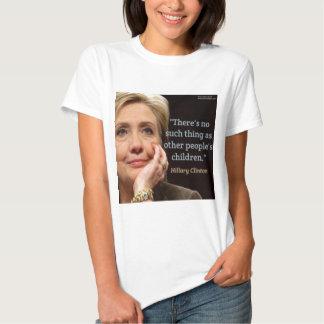 Hillary Clinton y toda la cita de los niños Playera