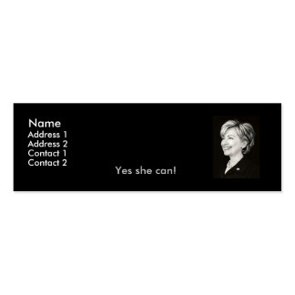Hillary Clinton - Yes she can! Business Card Templates
