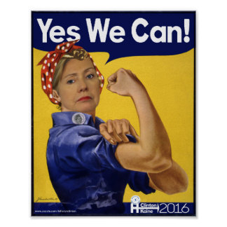 Hillary Clinton Yes We Can! Poster