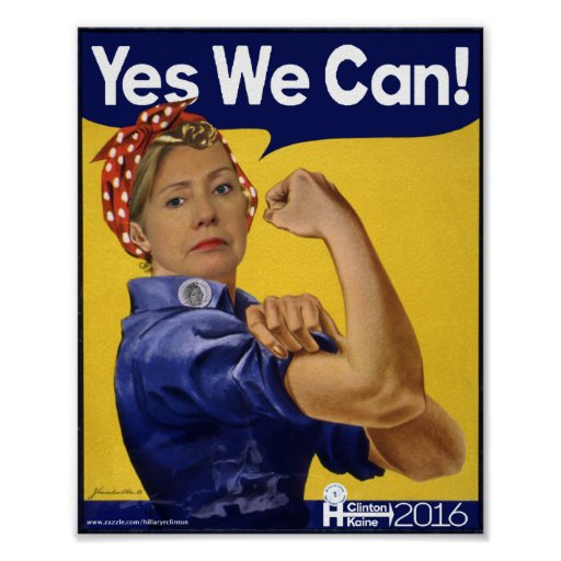 Hillary clinton yes we can poster zazzle for Bett yes we can