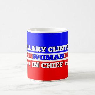Hillary Com-woman-der in Chief Mug