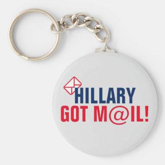 ¡Hillary consiguió el correo! Llavero Redondo Tipo Pin