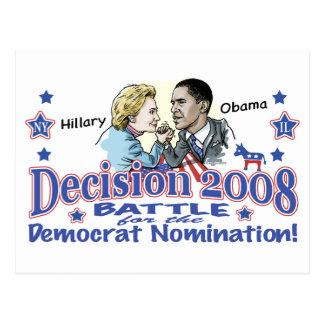 Hillary contra la postal de Obama