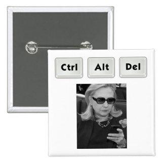 Hillary: Ctrl-Alt-Del Pin Cuadrado