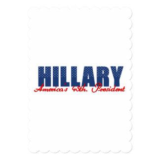 """Hillary el 45.o. Presidente Invitación 5"""" X 7"""""""
