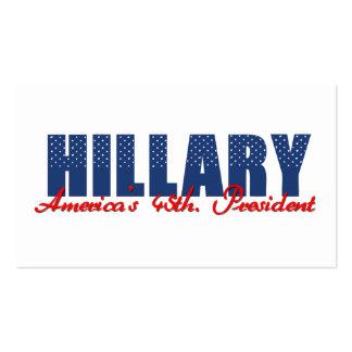 Hillary el 45.o. Presidente Tarjetas De Visita