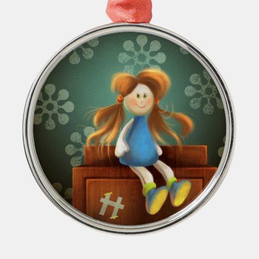 Hillary el ornamento de la muñeca ornamento de reyes magos
