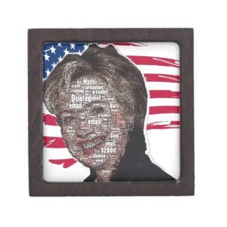 Hillary Email Scam Image Premium Trinket Boxes