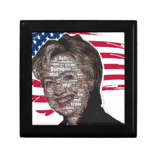 Hillary Email Scam Image Trinket Box