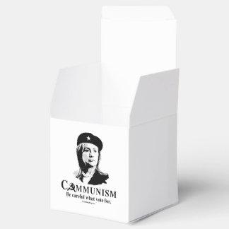 Hillary es comunismo cajas para detalles de boda