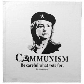 Hillary es comunismo servilletas
