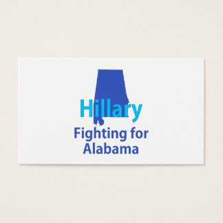 Hillary Fighting for Alabama Business Card