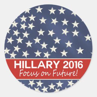 Hillary Focus on Future Classic Round Sticker