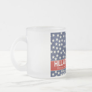 Hillary Focus on Future Frosted Glass Coffee Mug