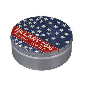 Hillary Focus on Future Jelly Belly Candy Tin