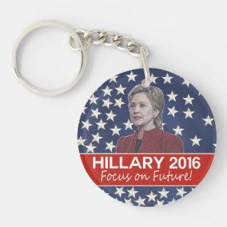 Hillary Focus on Future Keychain