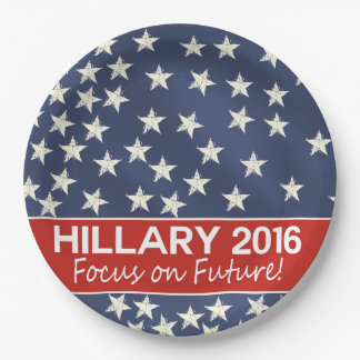 Hillary Focus on Future Paper Plate