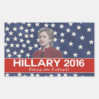 Hillary Focus on Future Rectangular Sticker
