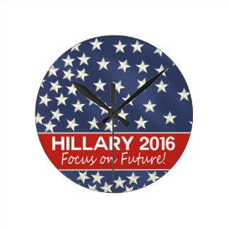 Hillary Focus on Future Round Clock