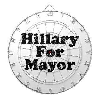HILLARY FOR MAYOR --.png Dartboard