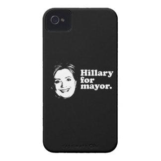 HILLARY FOR MAYOR white line -.png Blackberry Cases