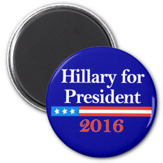 Hillary for President 2016 2 Inch Round Magnet