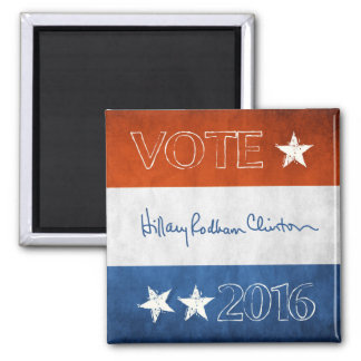 Hillary for President 2016 2 Inch Square Magnet